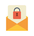 letter padlock drawn vector image