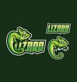 lizard mascot logo design vector image