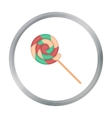 Lollipop icon in cartoon style isolated on white vector image vector image