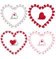 love heart frames clipart vector image vector image