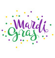 mardi gras handwritten calligraphy lettering text vector image