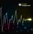 medicine black background vector image vector image