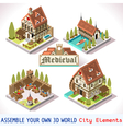 Medieval 03 Tiles Isometric vector image vector image