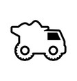 mining truck icon design template isolated vector image