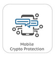 mobile crypto protection icon vector image vector image