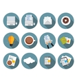 Modern Flat Design Icon Set for your Business vector image vector image