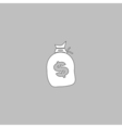 Money bag computer symbol vector image vector image