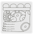 monochrome icon with glyph of the Maya Night Lord vector image vector image