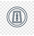 one way concept linear icon isolated on vector image