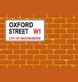 oxford street wall vector image vector image