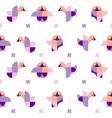 pattern geometric chicks vector image vector image