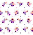 pattern of geometric chicks vector image vector image