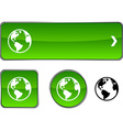 Planet button set vector image vector image