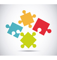 puzzle concept design vector image vector image