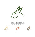 rabbit logo template vector image vector image