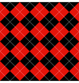 Red Black Diamond Background vector image vector image