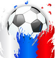 russia flag colors with soccer ball football vector image