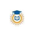 school sun logo icon design vector image