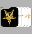 set of gold glitter stars golden sparkle luxury vector image