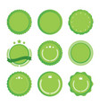 set of green emblems vector image