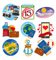 set of on the theme of summer beach holidays vector image