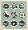 set promotional retro labels vector image