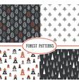 set seamless pattern with stylish christmas vector image