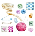 Sewing watercolor items vector image