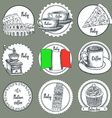 Sketch Italian icons vector image