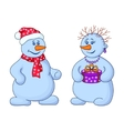 snowballs with a gift box vector image vector image