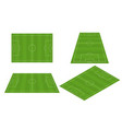 soccer field in different perspectives vector image