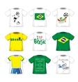 Soccer T-shirts Collection vector image vector image