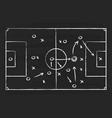 soccer tactic on board football strategy vector image vector image