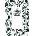 spring flowers design template scandinavian style vector image vector image