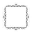 stylish elegant vintage frame with monograms vector image