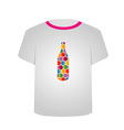 T Shirt Template- honeycomb bottle vector image vector image