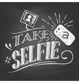 Take a selfie on blackboard vector image vector image