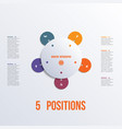 template flower colorful infographics 5 positions vector image vector image