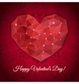 Valentines day greeting heart of the triangles vector image vector image