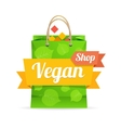 vegan shop concept vector image vector image