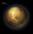 venus realistic planet is isolated on the cosmic vector image