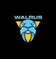 walrus mascot logo design vector image vector image