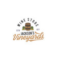 wine shop logo label organic winesvineyard vector image
