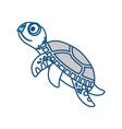 cute marine turtle vector image