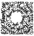 thank you modern handwritten inscription disposed vector image