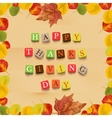 Thanksgiving day background vector image