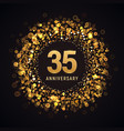 35 years anniversary isolated design vector image vector image