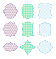 9 frames with geometric pattern