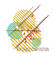 Abstract composition with colorful simple vector image vector image