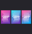 abstract gradient minimalist cover designs vector image